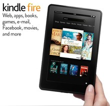 Stock Kindle Fire one, IPS touch screen, WiFi 8GB Tablet electronic book, ebook reader, ereader, ebooks e-book
