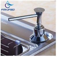 Free Shipping Wholesale And Retail Elegant Chrome Finish Soap Dispenser Kitchen Bottle Deck Mounted 220ml Soap