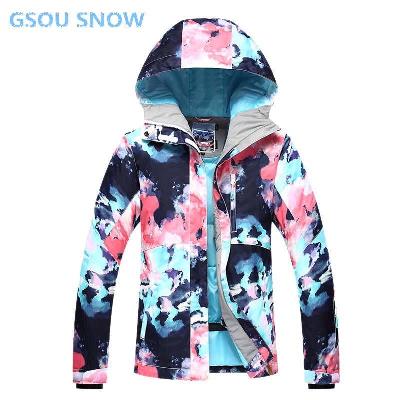 Gsou snow For women Skiing snowboard jacket Pants for girls winter Waterproof outdoor ski suit women's sportswear jacket gsou snow ski suit for women skiing suit winter outdoor sports clothes snowboard set camouflage ski jacket and pants multicolor