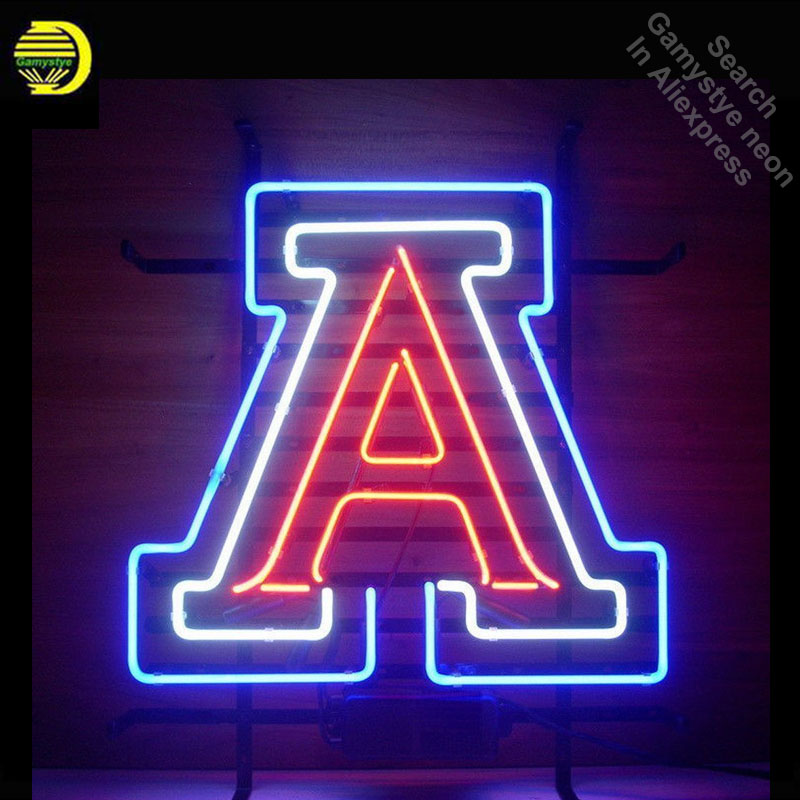 Neon Sign for letter A neon bulb Sign Neon lights Sign Hotel Real glass Tube Iconic Bulbs lamp Custom design real glass neon image