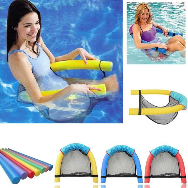 Relefree New Pool Floating Bed Buoyant Foam Stick Floating Chair Rafts  Swimming Seat Bed Swim Aids