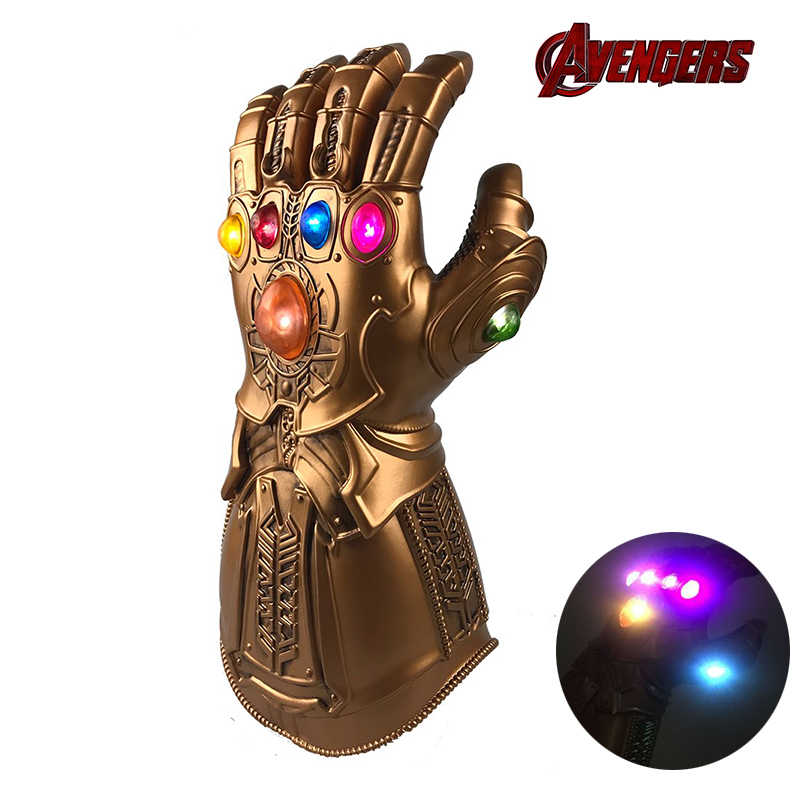Infinity Gauntlet Thanos Avengers Endgame cosplay prop LED Light Halloween Superhero party