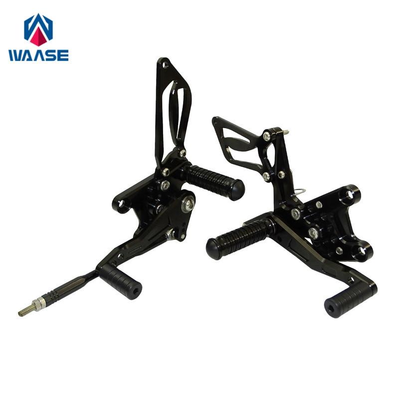Waase For Suzuki GSXR600 GSXR 600 2000 2001 2002 2003 2004 2005 Adjustable Rider Rear Sets Rearset Footrest Foot Rest Pegs