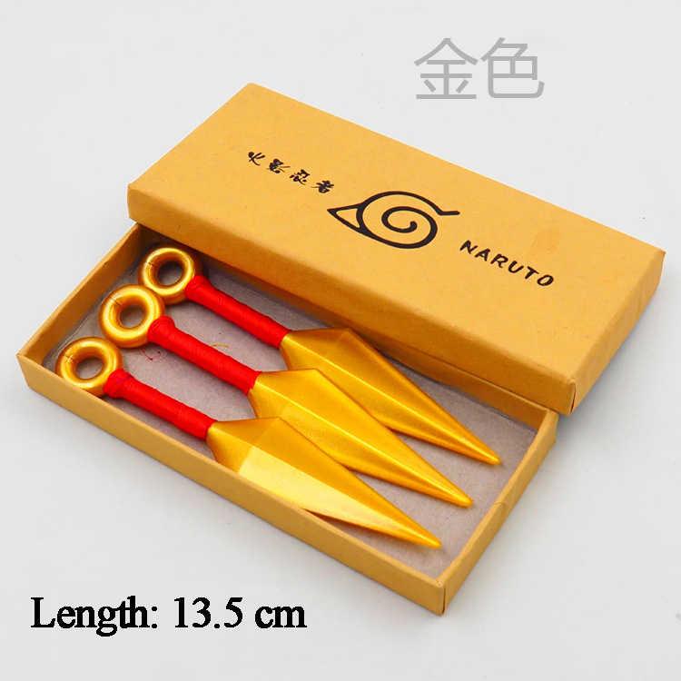 คุณภาพสูง 3 PCS อะนิเมะ Naruto อาวุธ Props นินจา Uzumaki Kunai Shuriken โยนคอสเพลย์ของเล่นอุปกรณ์เสริม Props