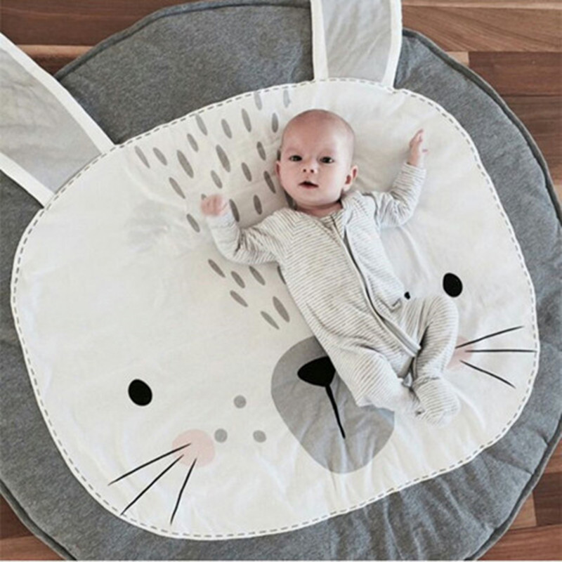 Cute gray Rabbit Bear Game Carpets For Kids Play Adventure Thickening Game Pad living room Children Toys play Crawling mat Rug
