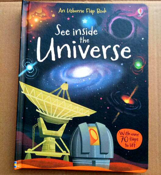 Usborne See Inside The Universe English Educational 3D Flap Picture Books Baby Early Childhood Gift For Kids Libros