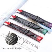 Watch Band 20mm Real Leather Strap Russian clown Tie Strap Expensive Joker Watch Green Purple Red Bracelet Man watchbands