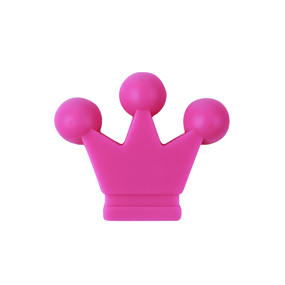 50pc Crown Silicone Beads Baby Jewelry Accessories Teething Necklace Making Food Silicone Beads