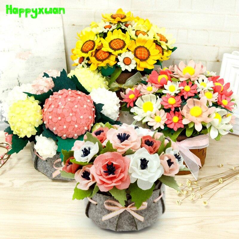 ღ ƹ ӝ ʒ ღdiy Non Tisse De Tournesol En Pot Fleur Bouquet Salon