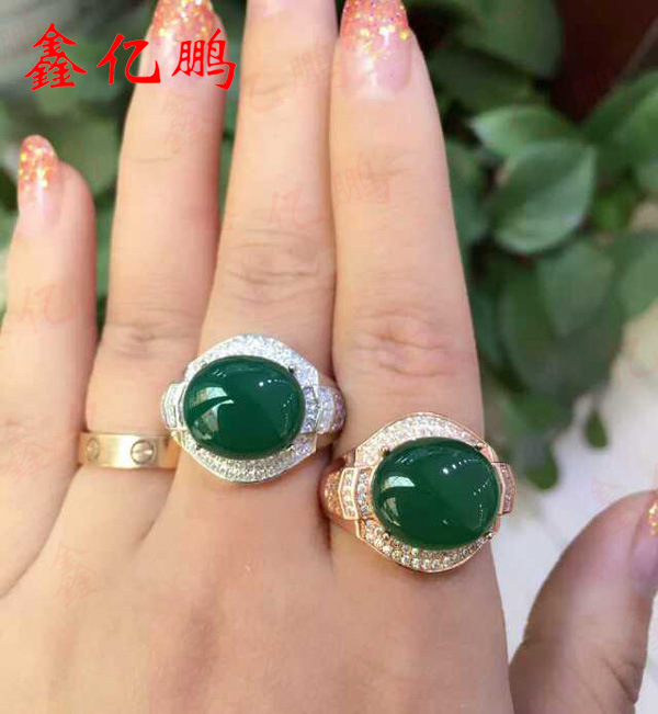 925 sterling silver with natural chalcedony ring female925 sterling silver with natural chalcedony ring female