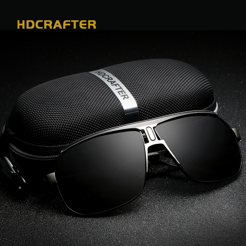 HDCRAFTER 2018 Marque designer Hommes lunettes de Soleil carré Vintage soleil lunettes Conduite Lunettes Lunettes pour Hommes