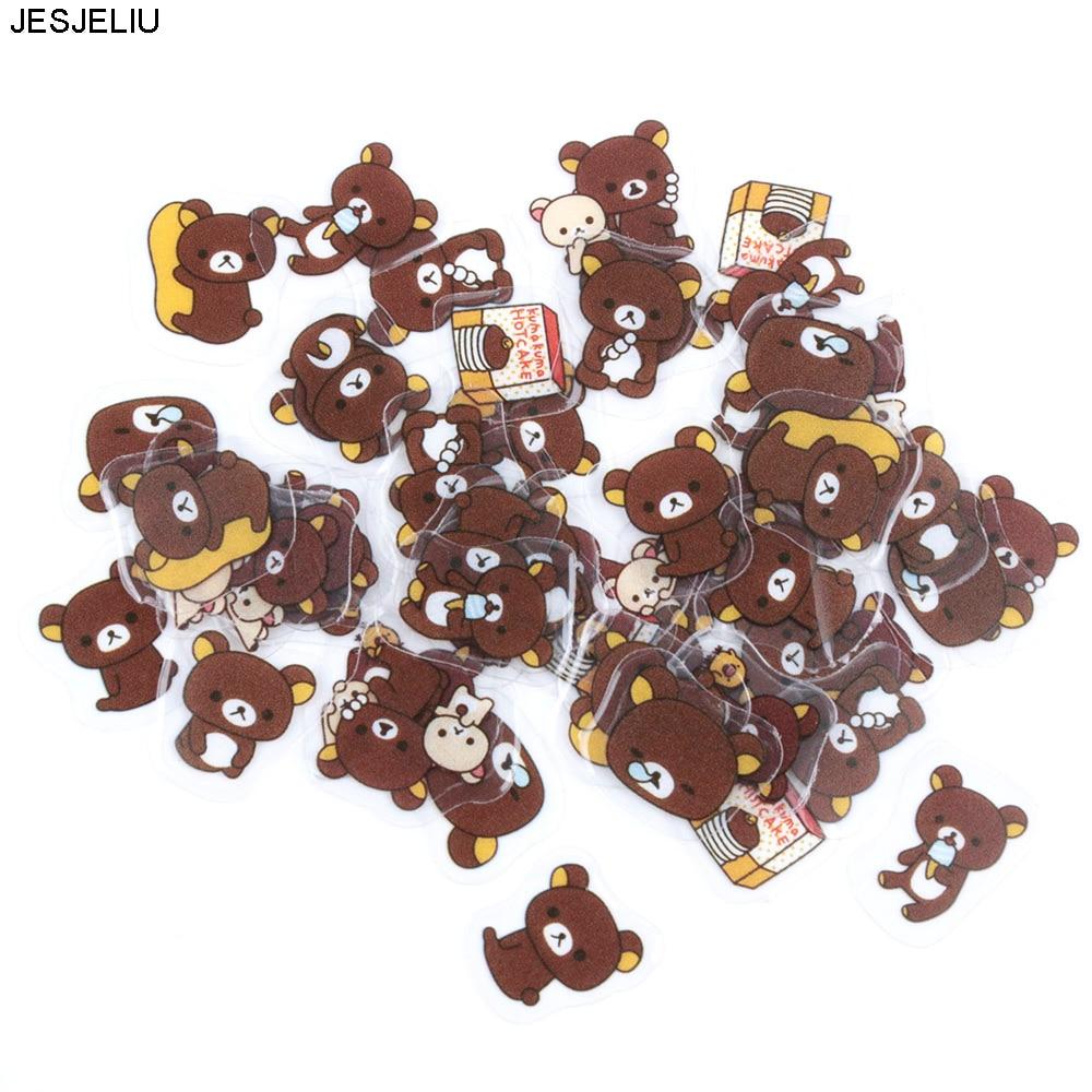 80pcs/lot Lovely Cartoon Bear Animal Mini Sticker DIY Diary Album Scrapbooking Decoration