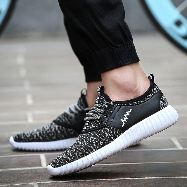 fbe8f00ee GOXPACER 2018 Spring Shoes Men Breathable Mesh Lacing Men Casual Shoes Flat  Heel Light Shoes Men Fashion Style Free Shipping