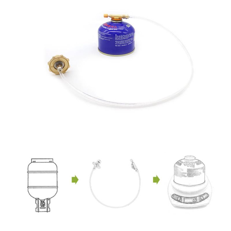 Outdoor Camping Gas Stove Safe Switching Charging Inflatable Valve Adapter for Flat Tank Liquefied Gas Cylinder