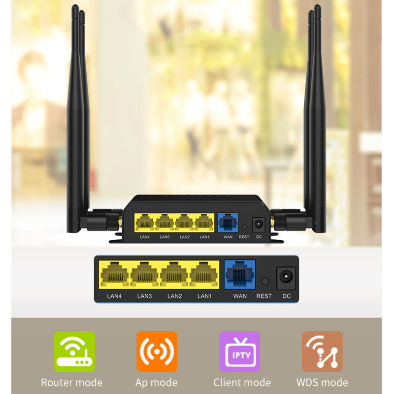Image 3 - 100% wifi lte router usb modem support 4g sim card 300mbps 802.11N wireless gsm openwrt router long range mobile wi fi rj45 port-in Wireless Routers from Computer & Office