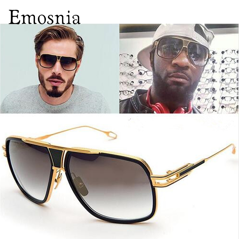 Emosnia nuevo estilo 2017 gafas De Sol De marca para hombre gafas De Sol De conducción Oculos De Sol Masculino Gran Maestro gafas De Sol cuadradas