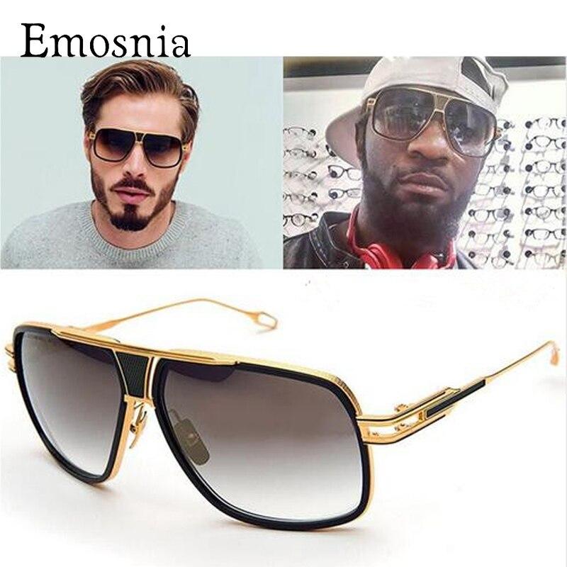 Emosnia nuevo estilo 2017 Gafas de sol hombres marca diseñador Sol Gafas conducción oculos de sol masculino Grandmaster cuadrado Sol vidrio