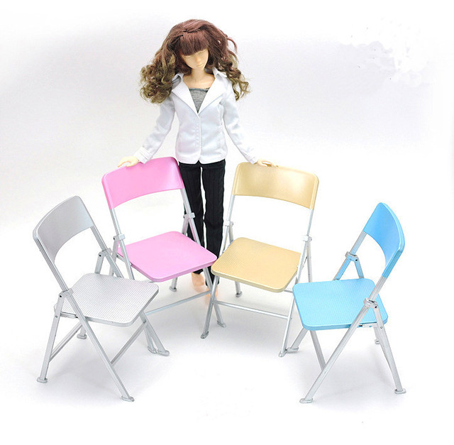 1:6 Colorful Folding Chair Dollhouse Accessories 6 Dollhouse Life Scene  Furniture Model Suitable For