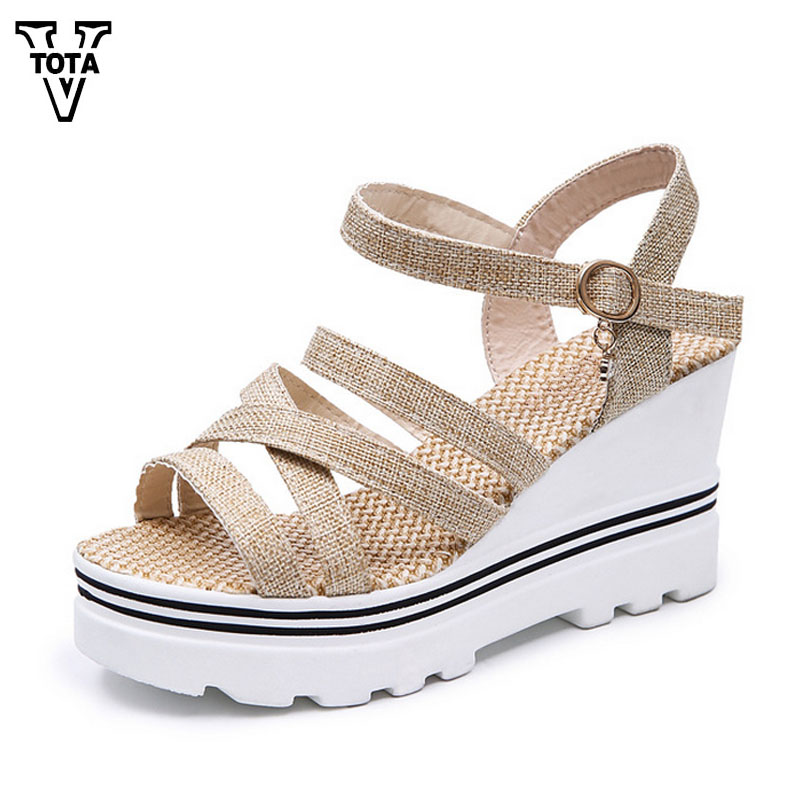 VTOTA Female Sandals Summer Women Sandals Casual Wedges Platform Sandals Thick Heels Shoes Open Toe Russian Shoes Woman OU03 phyanic 2017 gladiator sandals gold silver shoes woman summer platform wedges glitters creepers casual women shoes phy3323