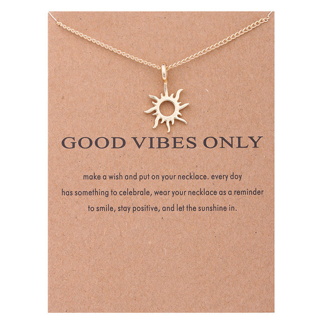 Fashion gold color good vibes only sun necklaces pendants for fashion gold color good vibes only sun necklaces pendants for women jewelry aloadofball Gallery