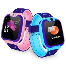 Enfants antil-perdu Smartwatch bébé 2G carte SIM horloge montre intelligente SOS appel localisation Tracker Smartwatch PK Q50 Q90 Q528.(China)
