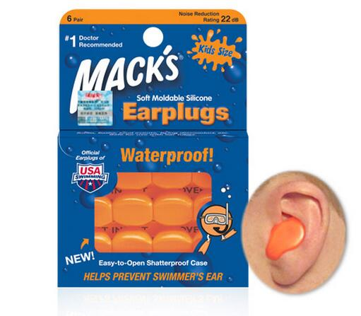 6Pairs Macks baby earplugs soft silicone waterproof children swimming earplugs kids earplugs for swimming