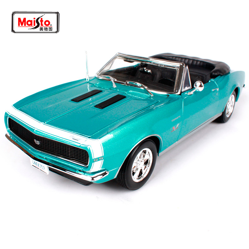 Maisto 1:18 1967 Chvrolet Camaro SS 396 Muscle Old Car model Diecast Model Car Toy New In Box Free Shipping 31684 image