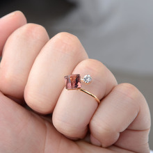 10pcs Wholesale Mixed Lots Jewelry  Square Crystal Gold Adjustable Rings