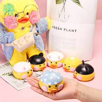 Cute Cartoon Contact Lenses Case Kawaii Duck Travel Lens Box Set With Mirror Lenses Holder Container For Cosmetic Contact Lens luxury roundness contact lens case color water eye lens box popular travel lens case contact with mirror