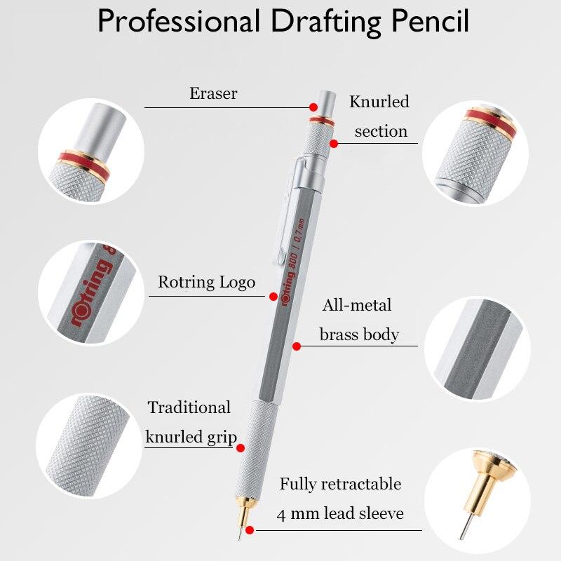 profissional caneta de metal lapis automaticos para design esboco papelaria 02