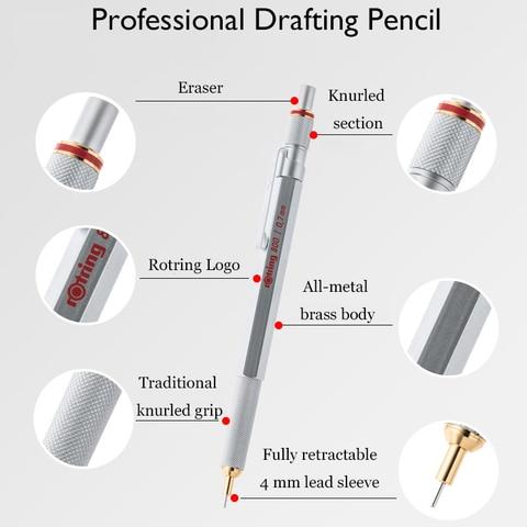profissional caneta de metal lapis automaticos para design esboco papelaria