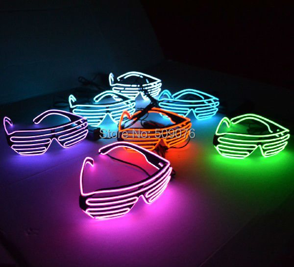 Free Shipping 2pcs/lot Sound Music Voice Activate led glasses El Wire led shutter sunglasses for DJ/Party Supplies ...