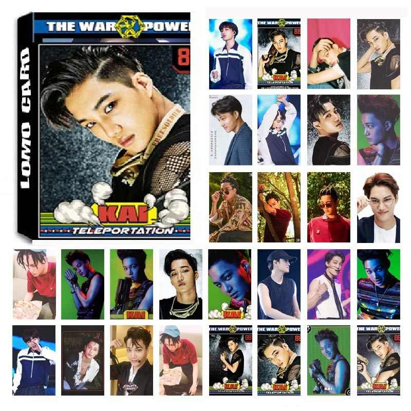 New 30Pcs/set KPOP EXO KAI Single Album for Life HD Photo Card PVC Self Made LOMO Photocard