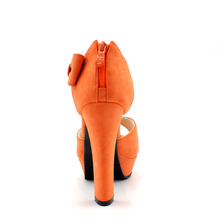 Black Hot New Summer Peep Toe Ankle Strap Sweet High Heel Sandals Platform Shoes Woman Bowties Charms Sandals Pumps