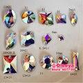 Mix 14 Formas, 140 pçs/lote Sew em Strass Cristal Claro AB Cristal AB Flatback sew em Pedras Contas de Costura para Sacos de Sapatos H0601
