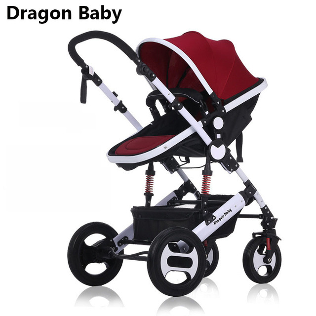 Dragon Baby baby stroller high landscape can sit and swing the shock absorber fold the newborn stroller four seasons universal