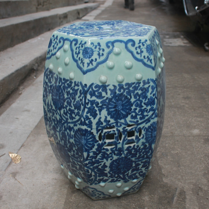 Jindezhen Chinese Ceramic Drum Stool Bathroom Dressing