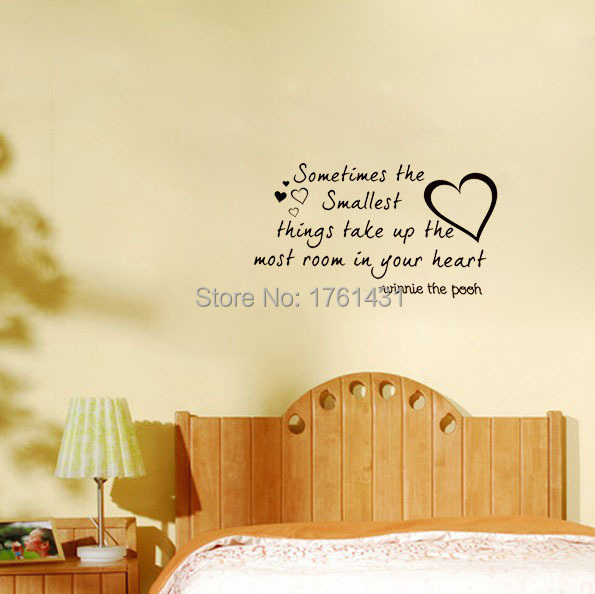 The Smallest Things Winnie the Pooh home decoration wall art decals ...
