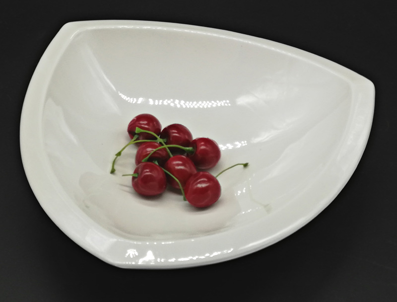 Melamine Dinnerware Dinner Plate Three Angle Plate Chain Restaurant Melamine Plate A5 Melamine Tableware Vegetables Plate in Dishes Plates from Home Garden