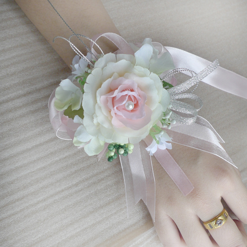 1pc artificial flower for a wedding wrist flower corsage. Black Bedroom Furniture Sets. Home Design Ideas