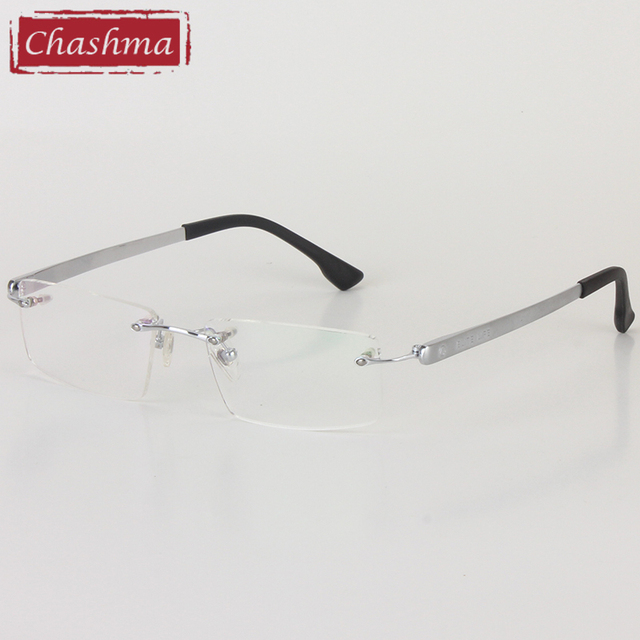 fd1d5e126c Chashma Brand Top Quality Clear Lenses Eyeglasses Large Frames Men Optical  Glasses Frame Titanium Eyeglasses Rimless Glasses Men