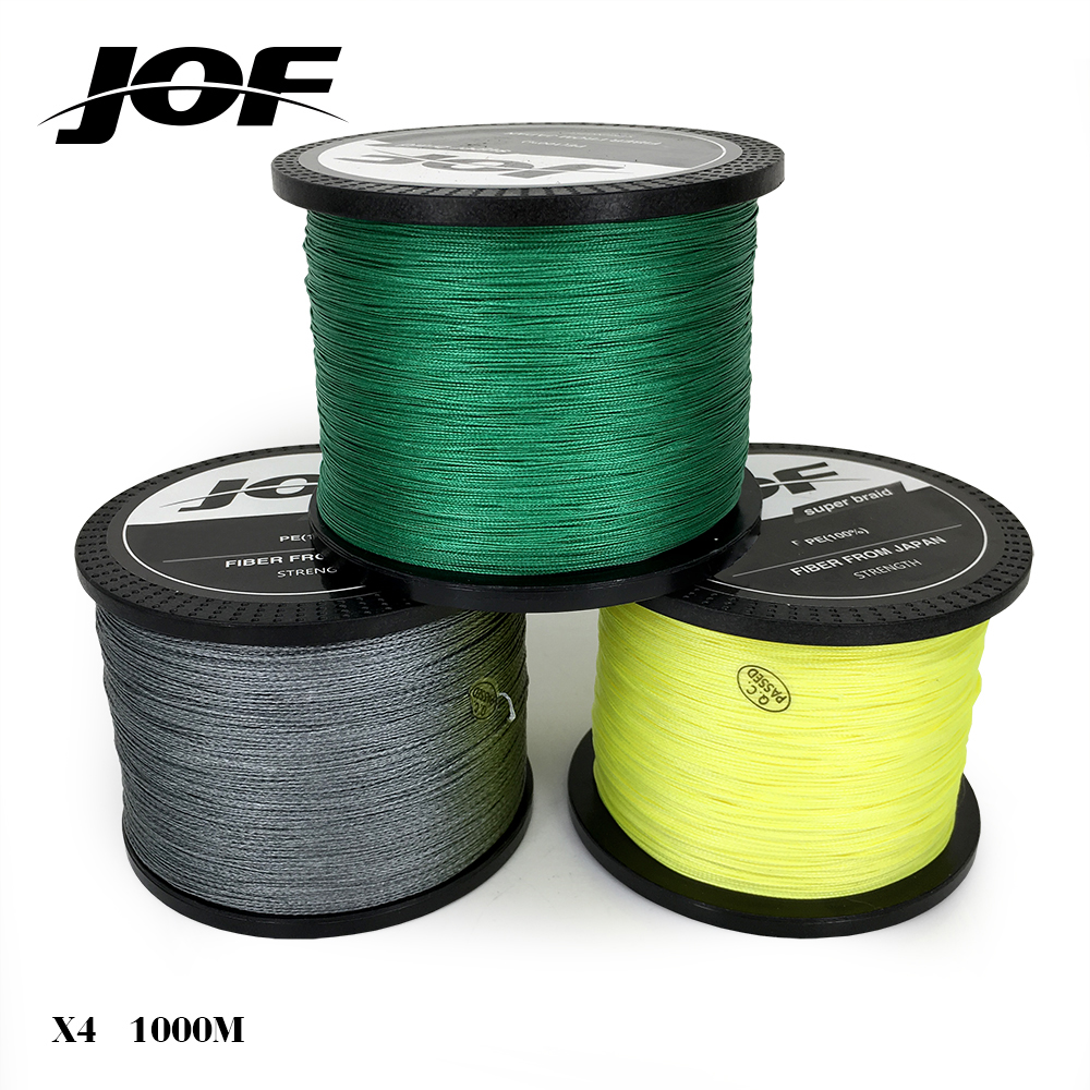 Jof brand best quality 1000m multifilament braided fishing for Bulk braided fishing line