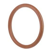 457ff3779 Bolso de mano con forma de círculo redondo de madera con asas de repuesto para  bolso de compras