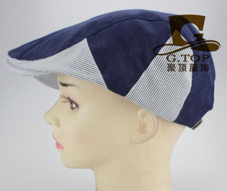 Unisex Duckbill Ivy Cap Golf Driving Flat Cabbie Newsboy Beret Hat double color ...