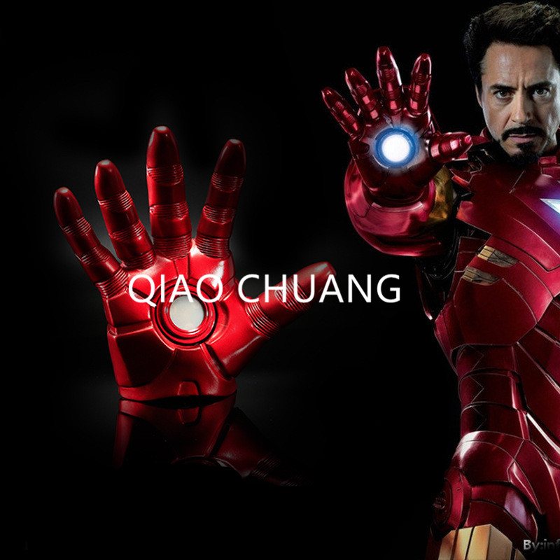 The Avengers SUPER HERO Universe Tony Stark Iron Man MK3 Robert Downey Jr 1:1 Gloves With LED Light Action Figure Movable G46 hx m x16 car air vent mount holder