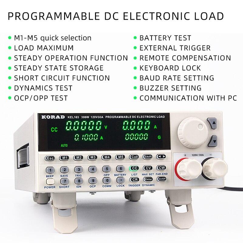 Contrôle numérique DC charge de programmation électronique 150 W professionnel testeur de batterie électrique 120 V 30A RS232 USB testeur de capacité