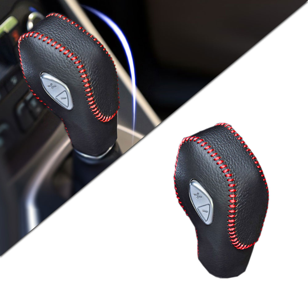 Car Gear Cover PU Leather For FORD Focus 2012 2018 New Fiesta 2013 2014 Ecosport 2016 2018 Gear Shift Knob Cover in Gear Shift Collars from Automobiles Motorcycles