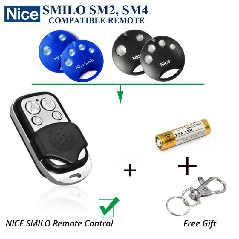 2 pcs Nice SMILO SM2 ,SMILO SM4 garage door transmitter replacement free shipping nice flo2r s replacement garage door transmitter free shipping