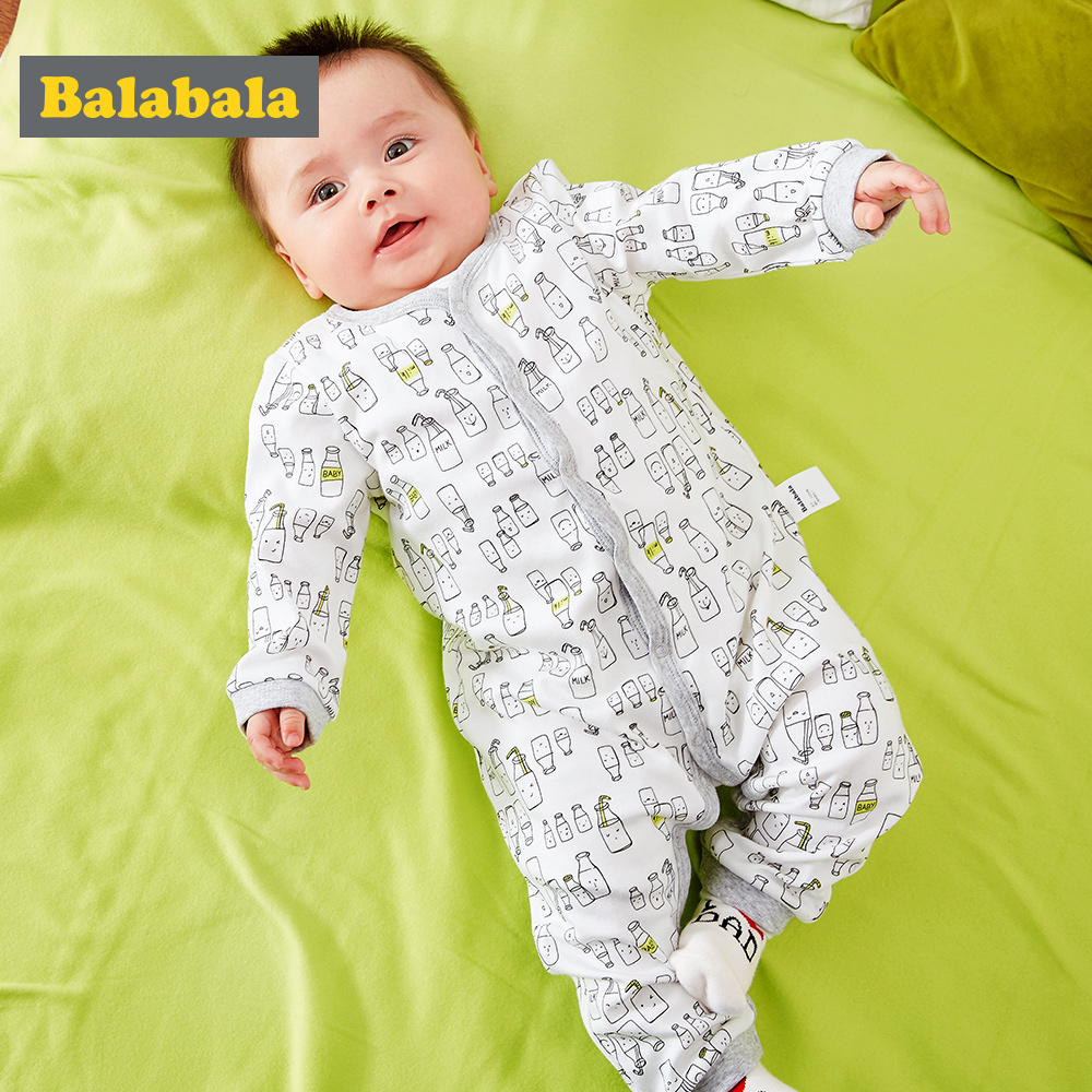 Balabala 2018 New Summer Baby Romper 100% cotton long sleeve Clothing Body Suit Newborn Kids Boys Girls Rompers Baby Clothes newborn winter autumn baby rompers baby clothing for girls boys cotton baby romper long sleeve baby girl clothing jumpsuits