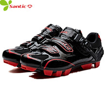 Santic Men MTB Road bike Cycling Shoes Cycling Athletic Racing Team Bicycle Shoes Breathable sport shoes